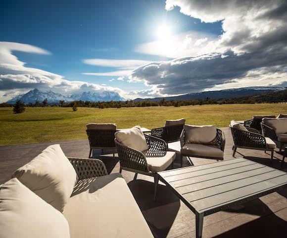 outdoor seating at Hotel Rio Serrano