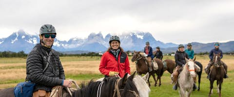 Meeting the horses, Fjord Trail, Patagonia