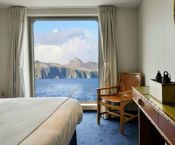 AA Cabin on Ventus Australis Patagonian cruise ship, Patagonia