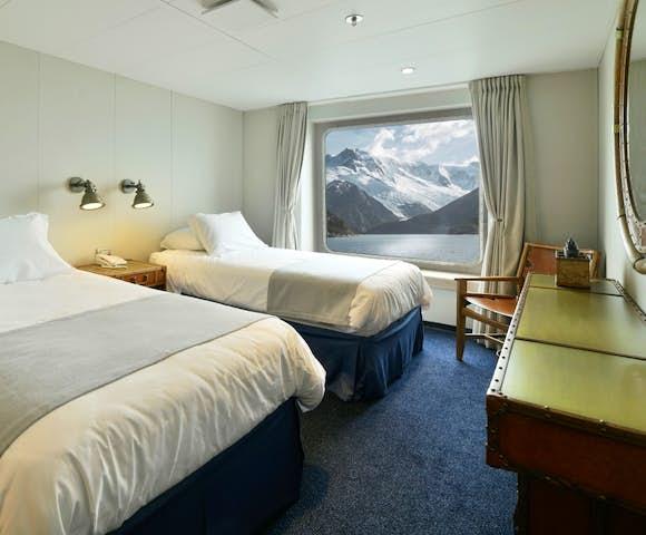 B Twin Cabin on Ventus Australis Patagonian cruise ship, Patagonia