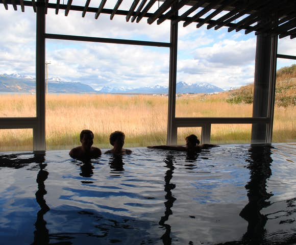 Spa pool at remota hotel
