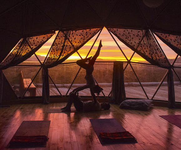 Eco Camp Yoga Dome