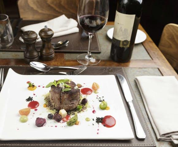 Hotel las Torres Food, Delicious evening meal at Hotel las Torres, Patagonia