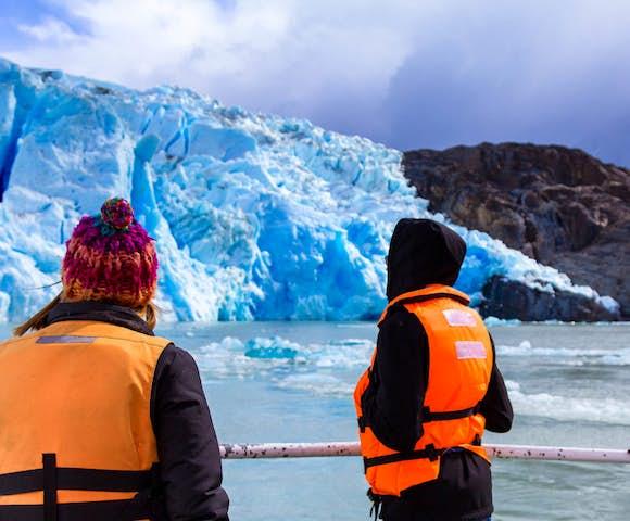 Hotel las Torres Grey glacier, Torres del Paine, Patagonia