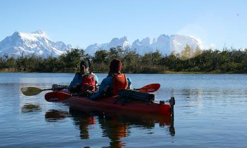 Kayak serrano river paine view 2