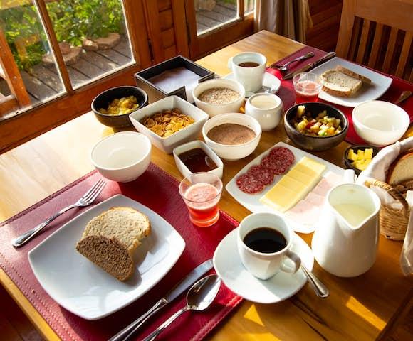 Breakfast at Mallin Colorado Lodge, Lago General Carrera, Patagonia, Chile