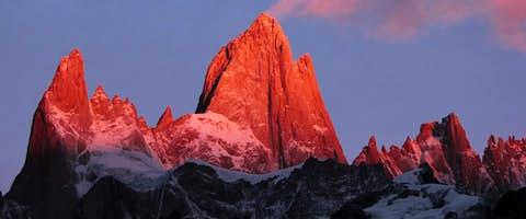 Sunrise over Mt Fitz Roy, Patagonia