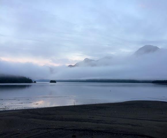 Raul Marin Balmaceda lake mist