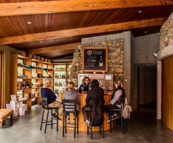 Wine tasting at the bar at Matetic Vineyard, Chile