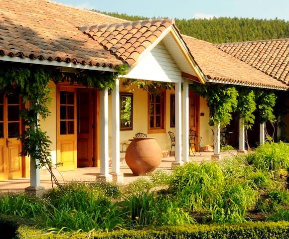 Views from the veranda at Matetic Vineyard, Chile