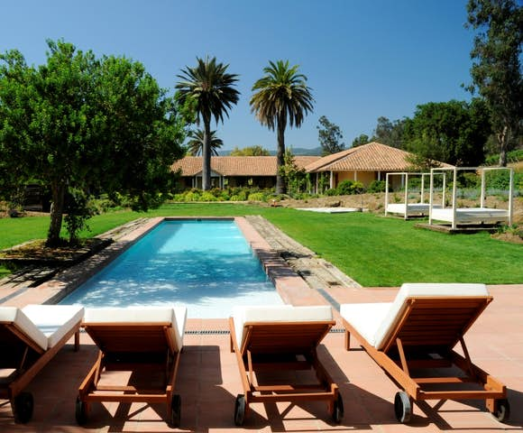 The pool at Matetic Vineyard's La Casona hotel, Chile