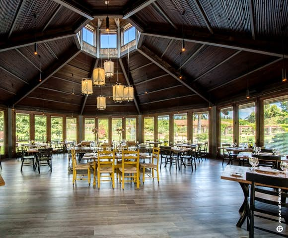 The Equilbrio Restaurant at Matetic Vineyard, Chile