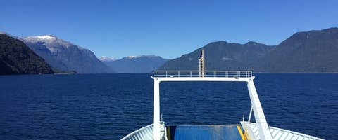 Pumalin car ferry