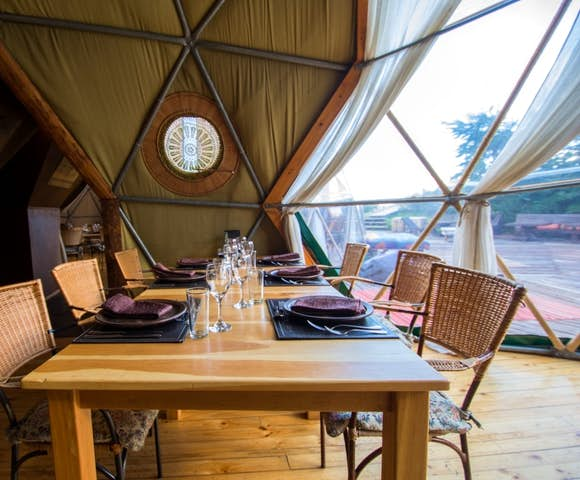 Dining room dome at Eco Camp, Patagonia