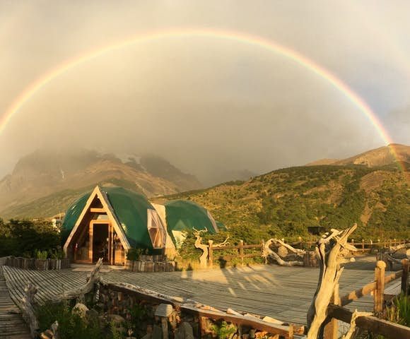 Eco Camp in the rainbows, Patagonia