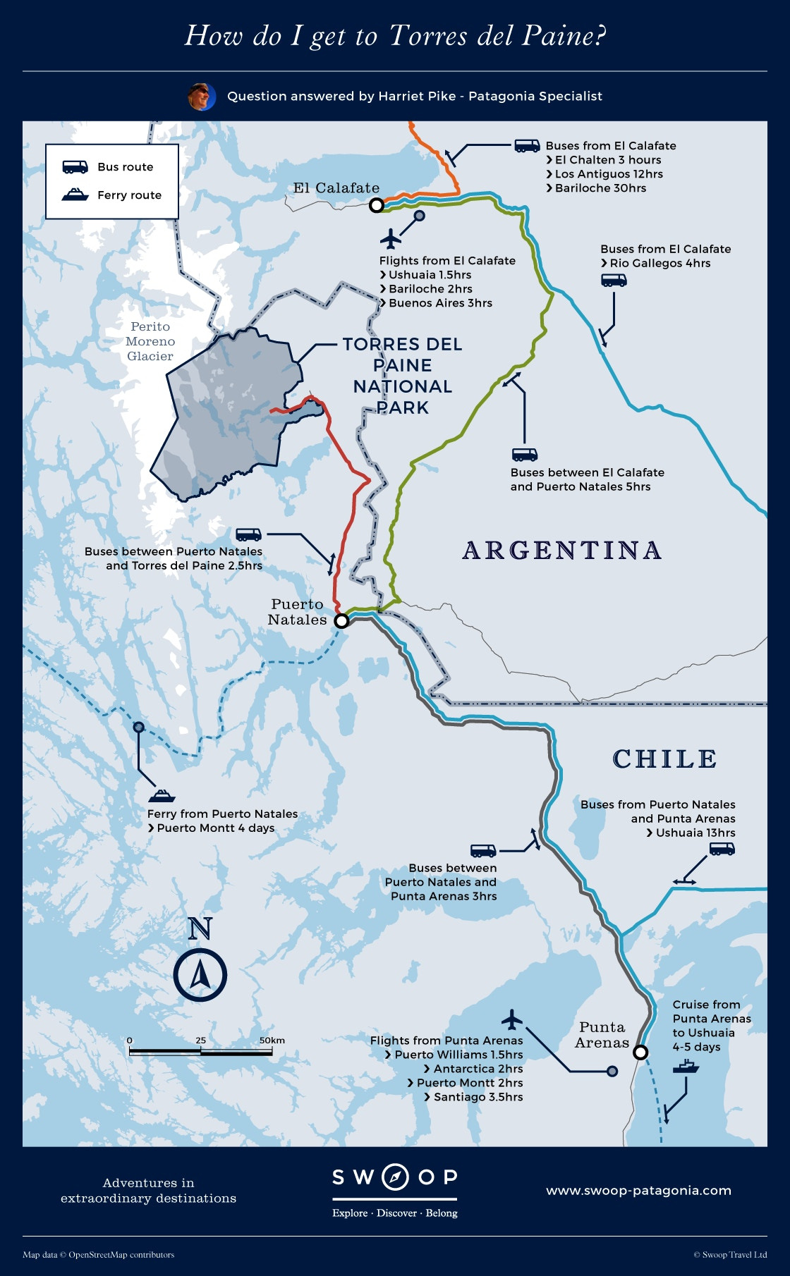 How To Get To Torres Del Paine Swoop Patagonia