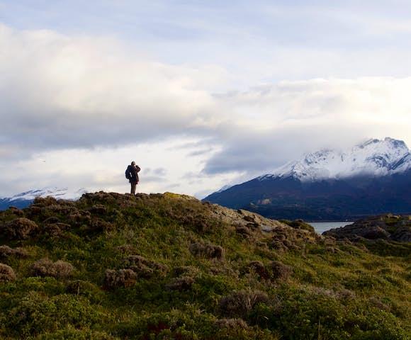 Trekking at estancia la peninsula