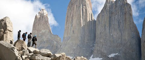 The infamous towers of Torres del Paine, Patagonia, Chile