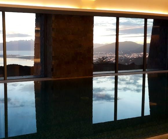 Hotel Arakur pool with a view ushuaia