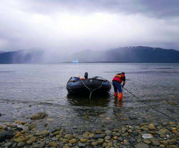 Crab fishing in the Beagle channel Tierra del Fuego